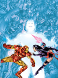 Contest Of Champions II No.1 Cover: Iron Man and Psylocke Plastskylt av Michael Ryan