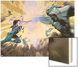 Ultimate Mystery No.2: Ben and Grimm Fighting Wood Print by Rafa Sandoval