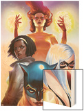 Marvel Divas No.2 Cover: Hellcat, Black Cat, Photon and Firestar Wood Print