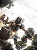 Taskmaster No.2 Cover: Task Master Fighting Wall Decal by Francesco Mattina