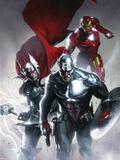 Secret Invasion No.6 Cover: Captain America, Thor and Iron Man Plastic Sign