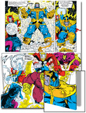 Infinity Gauntlet No.6 Group: Thanos, Hulk, Thor and Dr. Strange Prints by George Perez