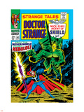 Strange Tales No.162 Cover: Dr. Strange and Nebulos Flying Wall Decal by Dan Adkins