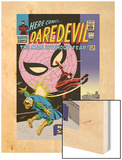 Daredevil No.17 Cover: Daredevil, Spider-Man and Marauder Wood Print by John Romita Sr.