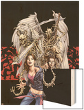 Spellbinders 6 Cover: Vesco, Kim and Asrokhel Wood Print by Mike Perkins