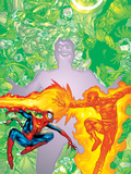 Contest Of Champions II No.2 Cover: Spider-Man and Human Torch Posters by Michael Ryan