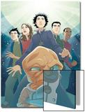 Guardians No.3 Cover: Drekk and Guardians Posters by Casey Jones