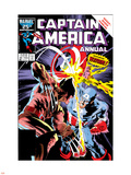 Captain America Annual No.8 Cover: Captain America and Wolverine Flying Wall Decal by Mike Zeck