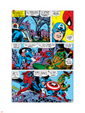 Captain America And The Falcon Group: Captain America, Falcon and Spider-Man Wall Decal by John Romita Sr.