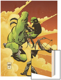 Marvel Universe vs. The Punisher No.2 Cover: Hulk Fighting Punisher Wood Print by Goran Parlov
