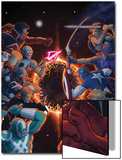 Annihilators: Earhfall No.2 Cover: Gladiator,Valkyrie, Captain America, Red Hulk & Others Fighting Prints by John Tyler Christopher