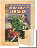 Strange Tales No.166 Cover: Dr. Strange and Voltorg Wood Print by George Tuska