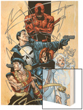 Marvel Spotlight: Marvel Knights 10th Anniversary Cover: Daredevil Wood Print by Joe Quesada