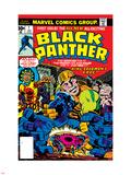 Black Panther No.1 Cover: Black Panther, Little, Abner and Princess Zanda Fighting Znaki plastikowe autor Jack Kirby