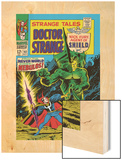 Strange Tales No.162 Cover: Dr. Strange and Nebulos Flying Wood Print by Dan Adkins