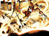 Fear Itself No.6: Iron Man Flying Plastic Sign by Stuart Immonen