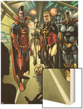 Annihilators: Earthfall No.1: Gladiator, Quasar, Beta-Ray Bill, and Cosmo Standing Together Wood Print by Tan Eng Huat