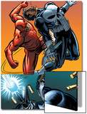 Daredevil Vs. Punisher No.4 Cover: Daredevil and Punisher Posters by Dave Lapham