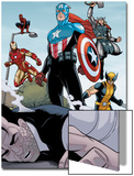 Heroic Age: One Month to Live No.5: Captain America, Wolverine, Iron Man, Thor, and Spider-Man Prints by Jamie McKelvie