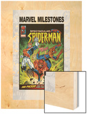 Marvel Milestones No.6 Cover: Captain Britain, Spider-Man and Red Skull Wood Print by Jon Haward