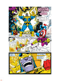 Infinity Gauntlet No.4 Group: Thanos, Captain America and Drax The Destroyer Plastic Sign by George Perez