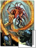 Secret Invasion: Inhumans No.2 Cover: Medusa and Crystal Fighting Poster