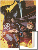Dark Reign: Lethal Legion No.2 Cover: Wonder Man and Grim Reaper Wood Print by Tommy Lee Edwards