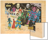 Infinity Gauntlet No.4 Group: Thanos Wood Print by George Perez
