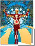 Warlock No.1 Cover: Adam Warlock Charging Poster by J.D. Cuban