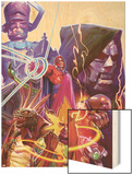 Marvel 1985 Must Have: Marvel 1985 No.2 Cover: Magneto Wood Print by Tommy Lee Edwards