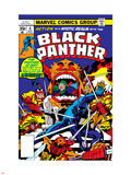 Black Panther No.7 Cover: Black Panther Charging Plastic Sign by Jack Kirby