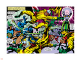 Black Panther No.2 Group: Black Panther, Princess Zanda and Hatch-22 Znaki plastikowe autor Jack Kirby