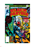Black Panther No.3 Cover: Black Panther, Princess Zanda, Hatch-22, Little and Abner Charging Plastic Sign by Jack Kirby