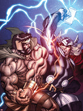 Chaos War No.1 Cover: Hercules and Thor Fighting Plastic Sign by Ed McGuinness