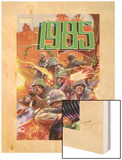 Marvel 1985 No.4 Cover: Marvel Universe Wood Print by Tommy Lee Edwards