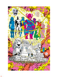 Infinity Gauntlet No.5 Group: Galactus, The Stranger, Kronos, Lord Chaos and Master Order Plastic Sign by George Perez