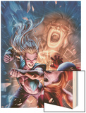 New Exiles No.10 Cover: Marvel Universe Wood Print