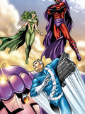Civil War: House Of M No.2 Group: Magneto, Polaris and Quicksilver Plastic Sign by Andrea Di Vito