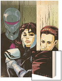 The Loners No.5 Cover: Turbo, Urich, Phil and Darkhawk Wood Print by Karl Moline
