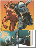 Daredevil Vs. Punisher No.4 Cover: Daredevil and Punisher Wood Print by Dave Lapham