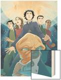 Guardians No.3 Cover: Drekk and Guardians Wood Print by Casey Jones