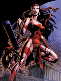 Herc No.8: Elektra Posing in an Alleyway Wall Decal by June Brigman