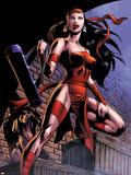 Herc No.8: Elektra Posing in an Alleyway Wall Decal by June Brigman