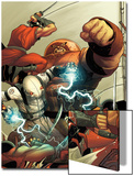 Thunderbolts No.148 Cover: Ghost and Juggernaut Fighting Prints by Frank Martin