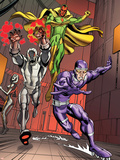 Exiles No.5 Group: Vision, Ultron and Machine Man Plastic Sign by Casey Jones