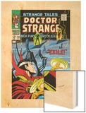 Strange Tales No.168 Cover: Dr. Strange and Yandroth Wood Print by Dan Adkins