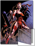 Herc No.8: Elektra Posing in an Alleyway Poster by June Brigman