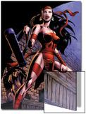 Herc No.8: Elektra Posing in an Alleyway Prints by June Brigman