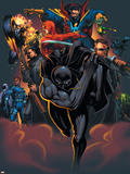 Handbook: Marvel Knights 2005 Cover: Black Panther Wall Decal by Pat Lee