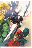 Infinity: the Hunt 1 Cover: She-Hulk, Ant-Man, Shuri, Black Panther, Meggan, Glaive, Corvus Plastic Sign by Slava Panarin